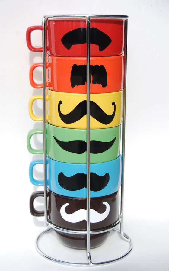 Comical Mustache Cups