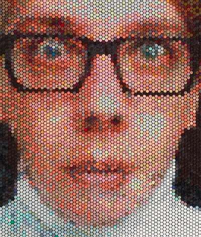 Pixelated Bubble Portraits