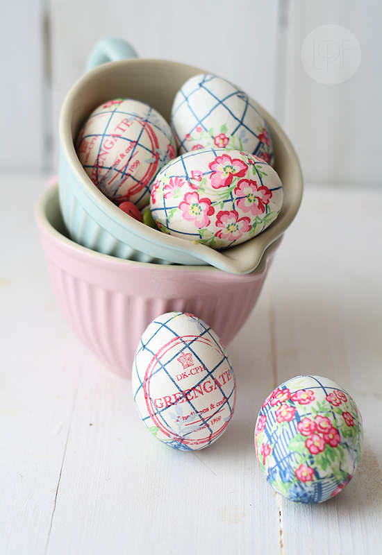 Paper Printed Easter Eggs