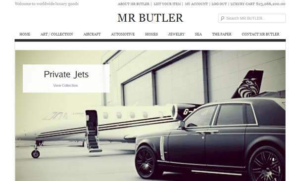 Mr Butler launches millionaire website