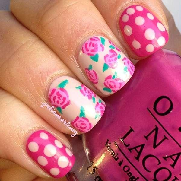 Floral Spring Manicures