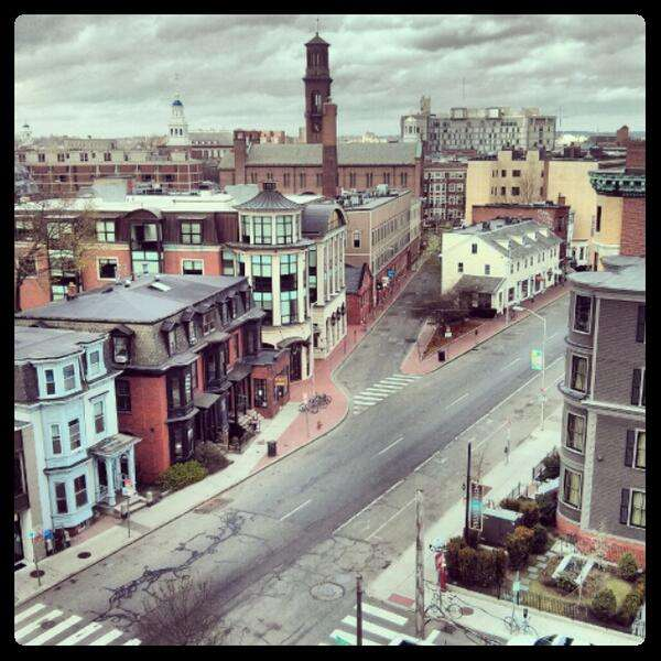 Eerily Deserted Boston Streets