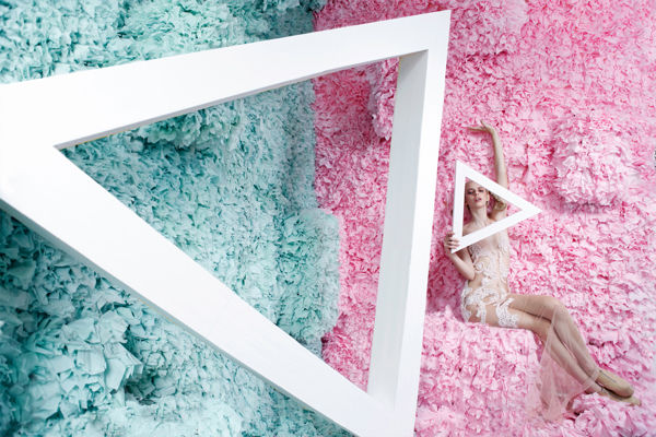 Geometric Floral Fashion Ads