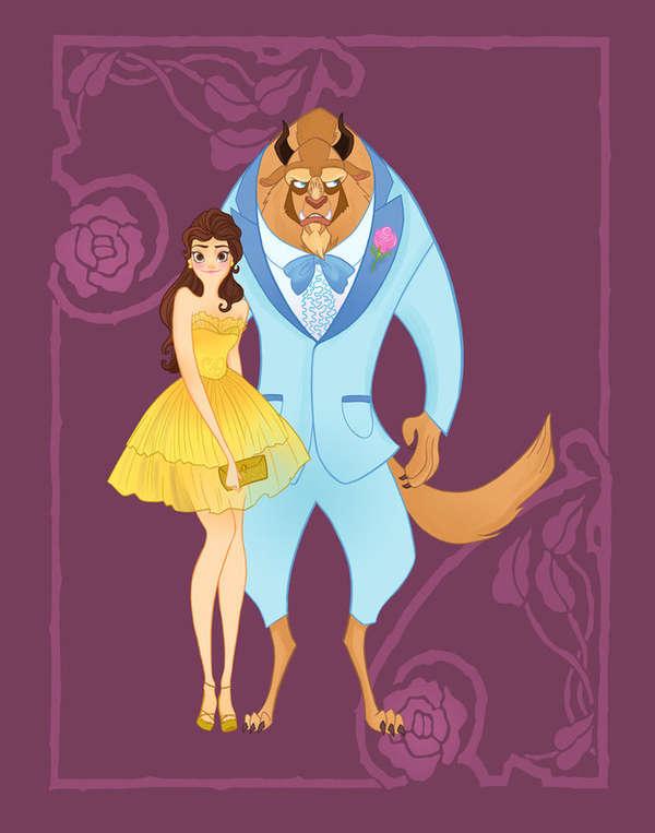 Fantasy Character Prom Drawings