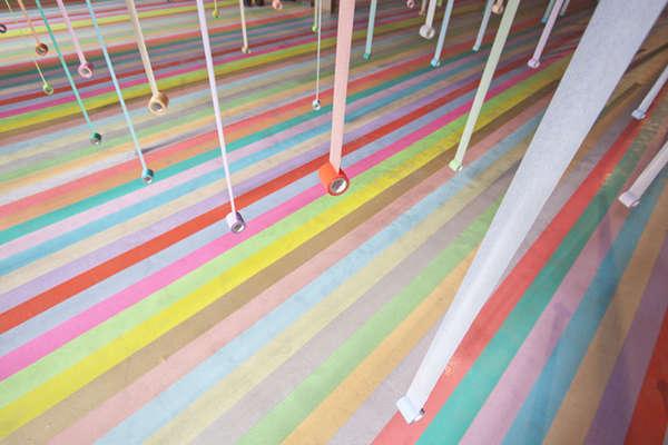 Tape-Decorated Interiors