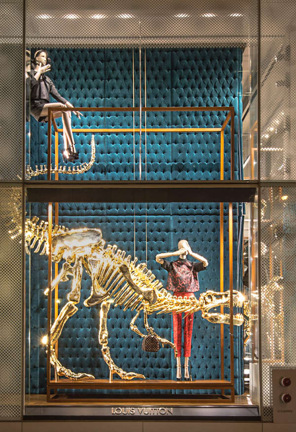 Golden Dinosaur Retail Displays