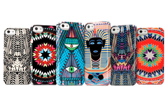 Eccentrically Patterned Phone Shields