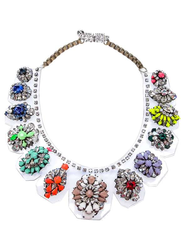 Floral Cut Glass Chokers