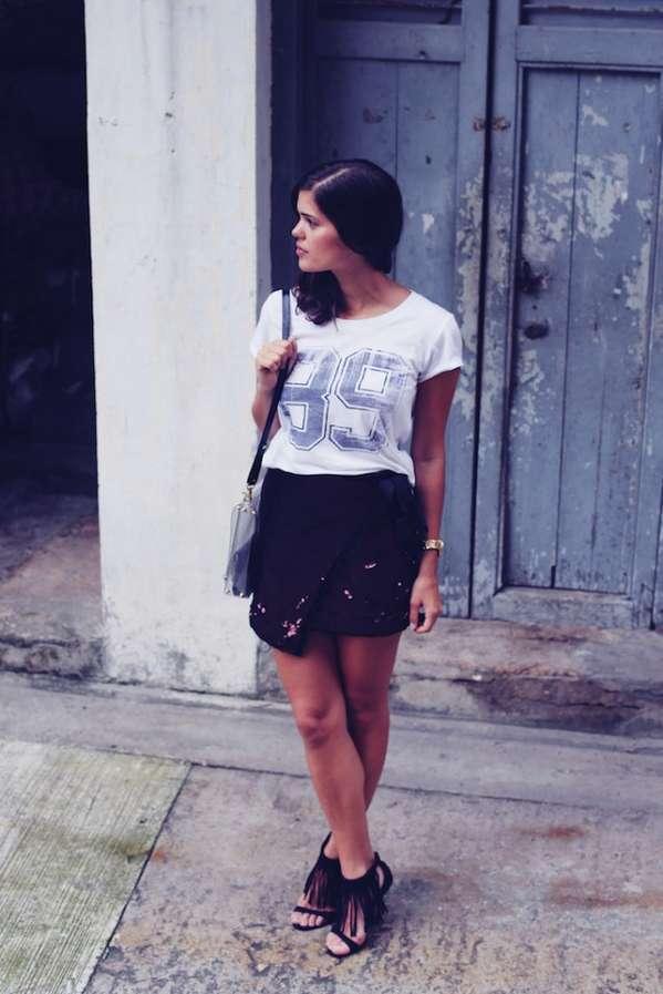 DIY Asymmetrical Sequin Skirts