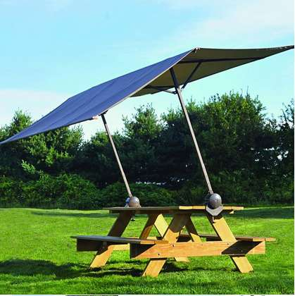 Portable Sun-Shielding Canopies