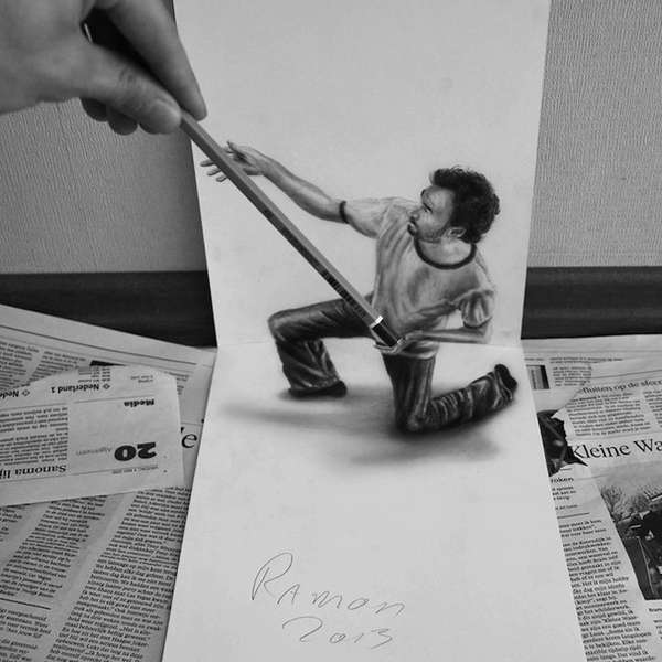 3D Optical Illusion Sketches