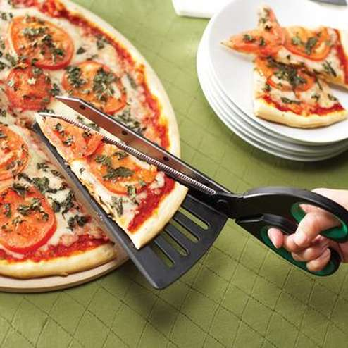 Spatula and Pizza Cutter Combo