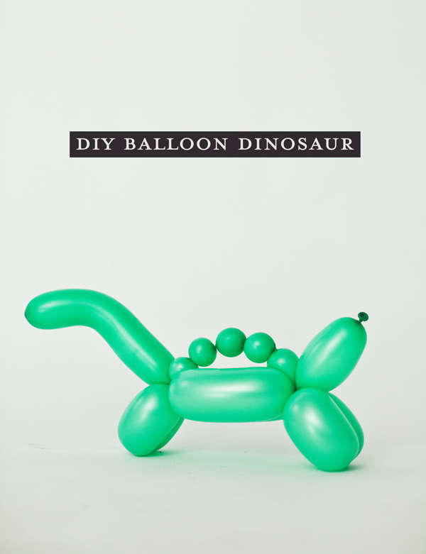 DIY Jurassic Balloon Animals