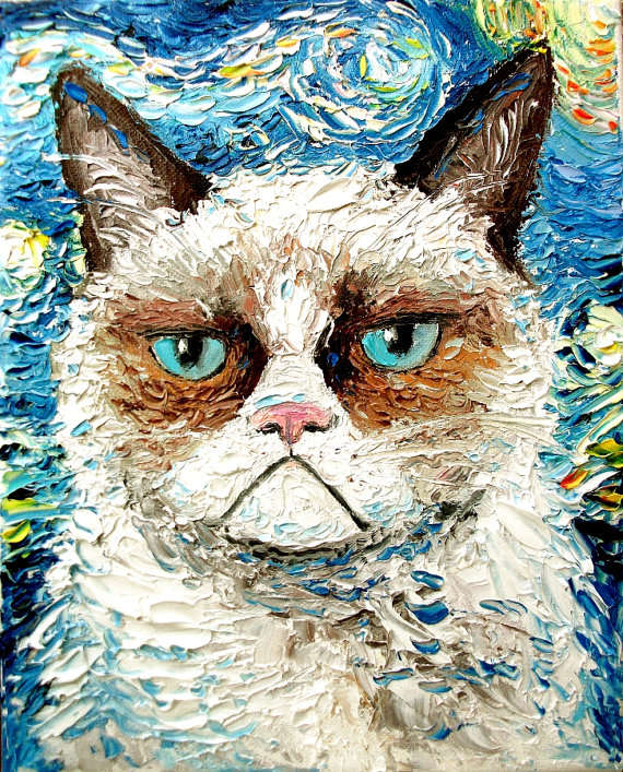 Acclaimed Celebrity Cat Paintings