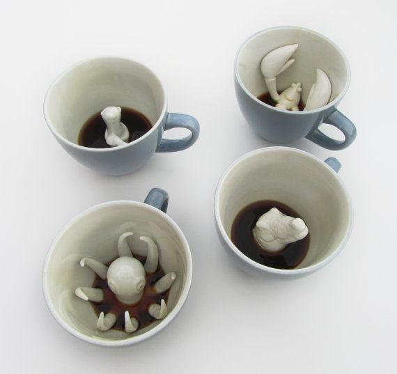 Creature Centred Ceramic Mugs