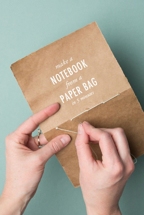 Upcycled Paper Bag Notebooks