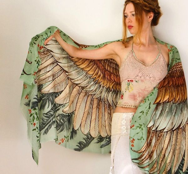 Hand-Painted Scarves