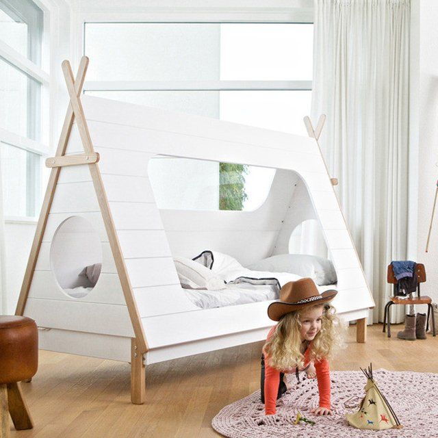 wooden teepee beds teepee cabin bed. Black Bedroom Furniture Sets. Home Design Ideas
