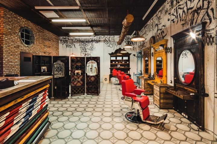 Man Cave Barber Miranda : Rustically masculine barber shops man cave like