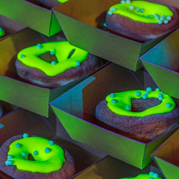 Glow-in-the-Dark Donuts