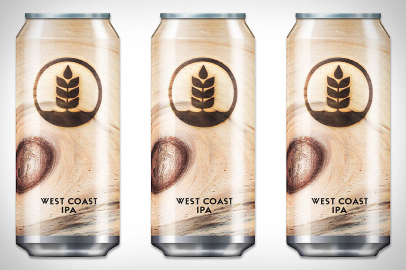 Wood-Inspired Beer Cans