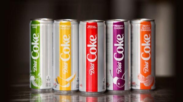 Colorful Diet Soda Rebrands