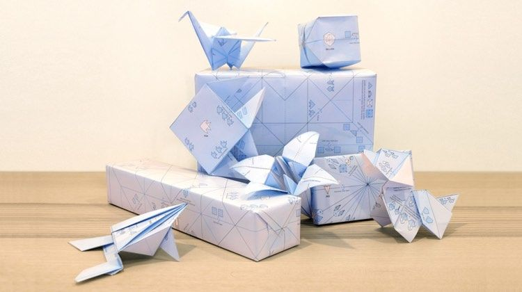 Interactive Origami Wrapping Paper